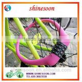 Wholesales Silicon Overmoulded cable lock, bicycle cable lock, Silicon bike lock