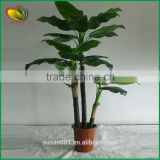 home decor artificial banana tree plastic artifcial banana tree
