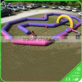 0.55mm PV Go kart inflatable curved track