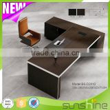 Sunshine High End Modern American Simple Style MFC Office Furniture Boss Room Manager Executive Desk With Aluminum Edge-banding