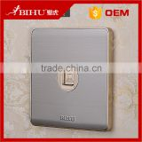 stainless steel electric socket network RJ45 wall computer socket