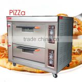Baker's magic assistant 2 deck 4 trays gas pizza bakery oven with ceramic stone