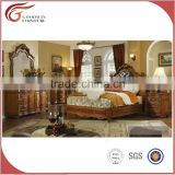 WA154 classic bedroom solid wood hand carved four poster double bed with Luxury American style
