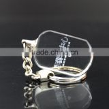 Laser engraving crystal key chain loop