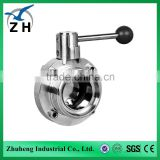 High quality stainless steel sanitary Butterfly valve butterfly valve seat ring grooved butterfly valve
