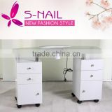 Portable glass nail Table, manicure table with dust collector