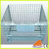 wire container and shopping cart,warehouse wire container,metal wire container with wheels