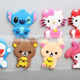 Hot selling 3D soft pvc cute cartoon animals shaped refrigerator magnet Promotion Gift Cheap Beautiful Refrigerator Magnets