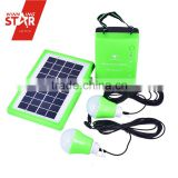 Multi-functional energy saving Solar power system with 9v 3w Solar Panel, Emergency light, three Bulbs