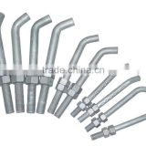 L shape anchor bolts , hot dipped galvanization/hex nuts/flat washers
