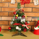 PVC Plastic Christmas Tree with iron rack Felt Christmas jewelry multi colored 400mm Sold By PC