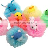 colorful shower bath ball best sale kid bath mesh ball sponge wholesale animal bath sponge