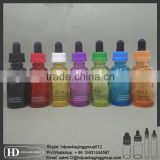 Screen printing 30ml Glass eliquid Bottle / Square Glass dropper Bottle With Cap / frosted French Square Glass Bottle