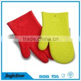 household kitchen waterproof silicone gloves/two fingers silicone oven mitts
