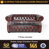 2016 Luxury Leather chesterfield Sofa , classic Design vintage leather sofa