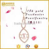 Factory supply 925 sterling silver pearl wedding jewelry, Pearl bridal jewelry pearl pendants