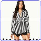 ladies long sleeve chiffon blouse designs,summer formal striped shirts and blouse,latest fashion blouse and tops women