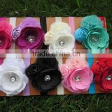 New Design Kids Headbands Rose Flower Baby Headbands Shabby Headbands for Hair Accessories IN STOCK