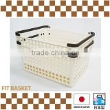 Japanese handy plastic baskets as food storage container