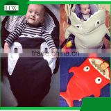 Christmas gift wholesale soft cotton baby kids children adults shark tail blanket sleeping bag