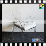 Luxury acrylic office chair clear acrylic arm-chair wholesale PMMA ghost chair from shenzhen yidong