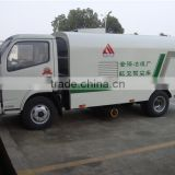 China cheap dongfeng light duty dust suction vacuum sweeper 3 tons