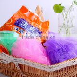 A051 Promotional cheap price bath pouf wholesale , mesh pouf bath sponge