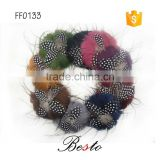 Fashion new product feather jewelry,feather flower garment accessory for girl's dresses