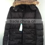 Men's down jacket stock textile garments stock lot sale readymade garments stock lot