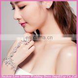 WS0002 bling bridal wedding wear bracelet and finger ring set