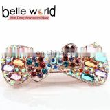 2015 Latest Fashion Bow Rhinestone Barrette Hair Clip