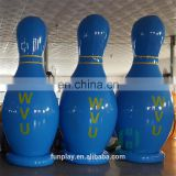 HI factory price cheap huge bowling ball,blue inflatable bowling ball advertising, inflatable human bowling game for kids