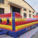 Newly carnival sport game PVC trampoline inflatable basketball bungee run jump
