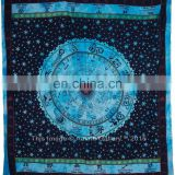Astrology Tapestry zodiac Indian Double Bedding Deco Turquoise Color Handmade 92x82 tapestry for sale