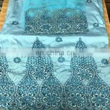 Latest design indian african lace embroidery beaded george