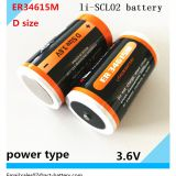 Primary Li-SOCl2 3.6V lithium ER34615m Battery