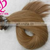 "Wholesale beautiful new arrival double drawn 18""-30"" Indian remy U-tip nail tip Pre-bonded human hair extension"