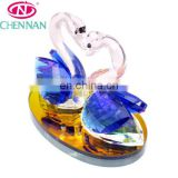 Shining Light Crystal Gift For Home And Car Decorating swan animal shape crystal crafts yiwu products