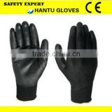 garden glove/low price black PU coated gloves/safety gloves/western safety gloves for sale