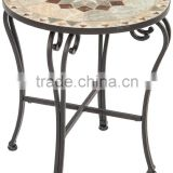 wrought iron mosaic tile bistro table home outdoor furniture