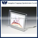 Super Bright Backlit Frameless Table Stand LED Advertising Crystal Light Box