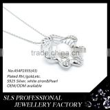 925 silver pearl chain necklace designs bridal pendant ,pearl beauty cream chinese pearl necklace pendant fashion