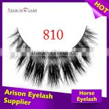 100% real siberian mink fur strip false eyelashes/ horse fur lash, Luxury packages high quality,2016 new fashion style