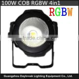 Led cob light dmx512 stage RGBW 4in1 COB led par AC90-240V ,high power 100w cob leds lamp