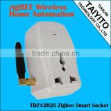 Zigbee power socket for smart home automation zigbee smart socket
