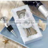 Scallop Shell Bottle Stopper in Gift Box For Beach Theme Party Favor Wedding Return gifts