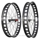 Aluminum fatbike wheels 80mm clincher snow fat bike wheelset beach alloy bicycle wheel FW80-AL