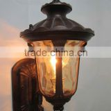 IP44 Aluminium antique brass outdoor wall lamp (HS2004-UP-M)