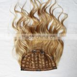 curly 100% human remy hair clip in half wig hair extensions