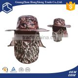 Guangzhou high quality digital custom camo fishing bucket hat